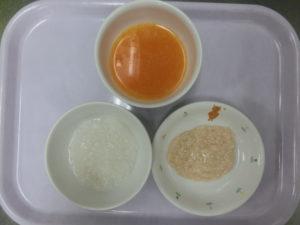 9月15日(火)離乳食中期 (7~8か月頃の食事)