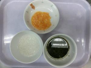 9月16日(水)離乳食中期 (7‐8か月頃の食事)