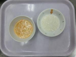 9月7日(月)離乳食中期(7-8か月頃の食事)