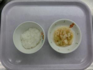 10月8日(金)離乳食後期(10~11か月頃の食事)