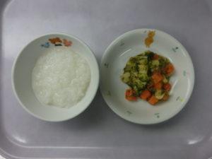 10月15日(金)離乳食後期(10~11か月頃の食事)